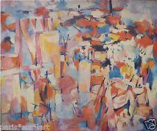 Claude SCHURR (1921-2014) Oeuvre sur toile Années 60 Jeune Peinture Abstrait