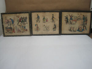 19th CenturyHand-Colored Stone Lithographs By Henry Alken,P. Pasquin Dated 1824