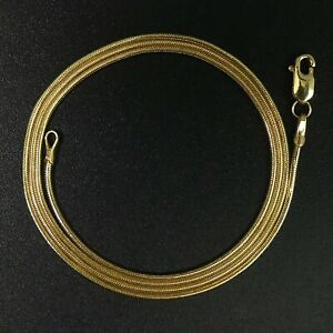 FINE 18 CT YELLOW GOLD 46 CM SNAKE LINK CHAIN NECKLACE - 5.6 GRAMS