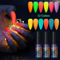5ml Soak Off UV Gel Polish Luminous Fluorescent Nails Gel Varnish NAIL VISION