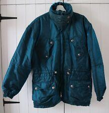 Ellesse Vintage Oversized Blue Green 2 Tone Retro Padded Ski Coat UK 16 US 12