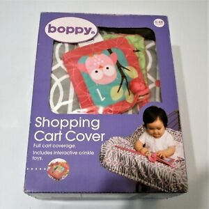 Boppy Shopping Cart and Highchair Cover with Interactive Crinkle Toy New in Box