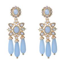 earrings Nails Golden Candlestick Drop Blue Pale Baroque Retro XX25