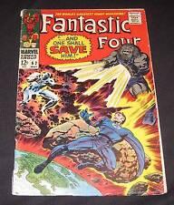 FANTASTIC FOUR #62 vg-/vg 12¢ cover Marvel Comic   Negative Zone   Blastaar