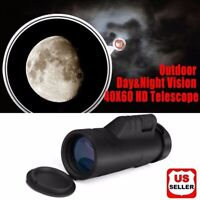 Outdoor Day&Night Vision 40X60 HD Optical Monocular Hunting Hiking Telescope NEW