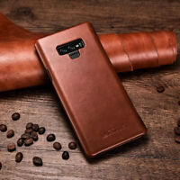 For Samsung Galaxy S20 S10 S9 Note 9 100% Authentic Real Leather Flip Cover Case