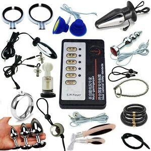 Electrosex Shock Accessories Pulse Ring Male Enlarger E-stim Extender Enhancer