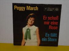 """SINGLE 7"""" - PEGGY MARCH - ER SCHOSS MIR EINE ROSE - ES FÄLLT EIN STERN"""