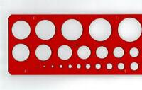 Kreisschablone 1-36 mm dt. Hersteller Zeichenschablone Lochkreisschablone