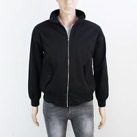 Made In England Mens Size S Black Cotton Harrington Zip Up Jacket