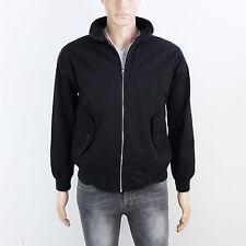 Hecho En Inglaterra Para Hombre Talla S Negro Algodón Harrington Jacket Zip Up