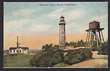 Westport-Washington-Lighthouse-Light House-Antique Postcard