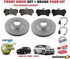 Para Audi Q7 1,8 kg 2006-2015 Delante 350mm Juego Discos Freno + Pastillas Kit +