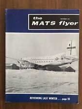 The MATS Flyer November 1961 Military Air Transport Service Magazine