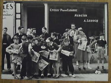 Photo Pleyben,Tour de France,Cycles Cloarec,Leducq,1939    25 x 35 cm