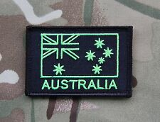 Lime Green & Black Australian Flag Patch Special Forces Afghanistan SASR SOTG