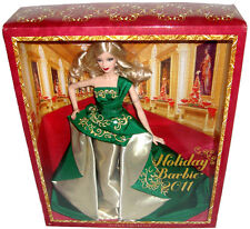 Holiday Barbie Doll 2011 Beautiful Green Dress Mint in Box Mattel Toy Blond RARE