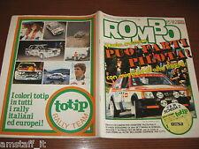RIVISTA ROMBO 1982/15=KADETT SR=CONRERO ASCONA RALLY MARCHE=SUZUKI SJ 410=