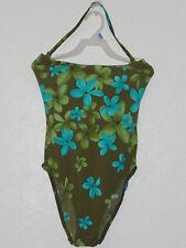 New Sz.4-6 Liz Claiborne Swimwear , One Piece, Floral Multi-Color Nylon/Lycra