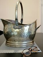 Large Vintage Brass coal bucket.