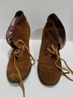 Indigo By Clarks Womens Brown Suede Ankle Boots Size 6.5 M