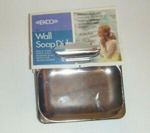 NOS EKCO Chrome Soap Dish Wall Mount NEW MCM Kitchen Bathroom 60s