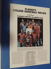 Original 1983 Playboy All-America Basketball Team Michael Jordan magazine ad