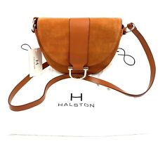Halston Heritage Small Suede Crossbody Bag H1260020L3 NWT Butterscotch