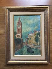 Venice Canal Oil Painting On Board