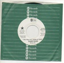 SHARON VAUGHN 45 RPM Promo Record THE FIRE THAT BURNS AT HOME Never Played
