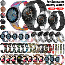 For Samsung Galaxy Watch 3 41mm 45mm 42/46mm S3 Stainless Steel Resin Band Strap