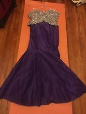 Mac Duggal purple size 4 pre-owned pageant Rhinestone excellent condition
