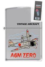 Zippo 250 A6M Japanese Zero WW2 Airplane Lighter + FLINT PACK