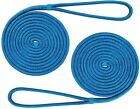 2 Pack 5/8 Inch 25 Ft  Double Braid Dock Lines Nylon Mooring Rope Anchor Line