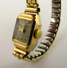 Vintage 10k Gold Plated 1950s Majex Cocktail Wrist Watch Runs Needs Work LAYBY