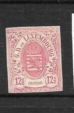 LUXEMBOURG  1859-64  12 1/2c  ARMS   MNG IMPERF SIGNED  Sc 8