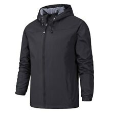 Men Softshell Jacket Single-layer Hooded Outwear Outdoor Hiking Mountaineer Blue
