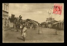 British Cwlth Africa Southern Nigeria LAGOS Great Bridge Street 1920 PPC