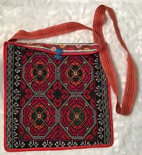 Vintage Handmade Ethnic India Crossbody Bag Embroidered  - New & Beautiful!