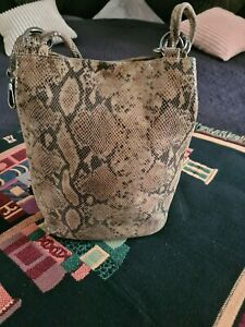 Damentasche Leder *** Schlangen Optik **** Made in Italy !!!!
