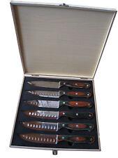 """Dr. Richter Steakmesser """"Texas XXL"""" 6er-Set in Holzbox - ideal für dicke Steaks"""