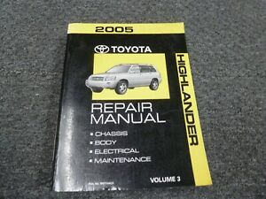 Service Repair Manuals For Toyota Highlander For Sale Ebay