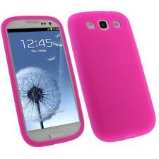 Rosa Custodia Silicone per Samsung Galaxy S3 III i9300 Android Skin Case Cover
