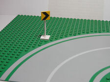 LEGO LEGOS  -  Yellow Road Sign Square with Black Chevron Pattern Town 2000 5-8