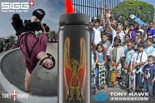 SIGG TONY HAWK DRINKING SPORTS BOTTLE BLACK, ALUMINUM, INTEGRATED STRAW, 750ml