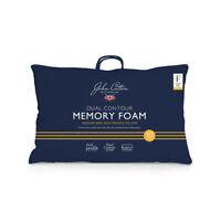 John Cotton Memory Foam Dual Contour Medium / High Profile Pillow RRP $179 NEW