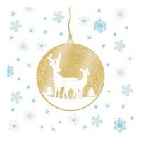 20 x Winter Christmas Angel Deer Forest Blue Tit Dining Paper Napkins Serviettes