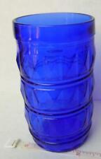 Brazilian Blue Cobalt Glass Tumbler Brazil embossed 300 ml