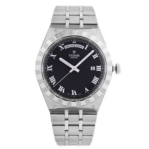 Tudor Royal 41 mm Steel Day-Date Black Dial Automatic Mens Watch M28600-0003