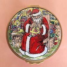With Box Kingsley Enamels Rare Santa Claus/Father Christmas Trinket Box